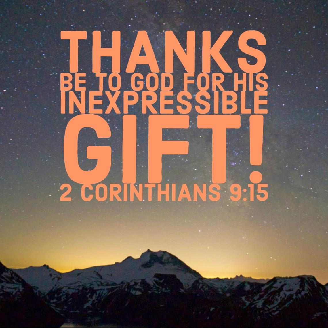 2 Cor 9 15